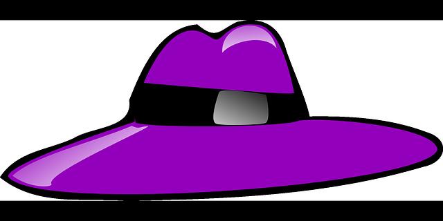 Fialový klobúk